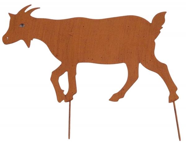 Beetstecker Ziege ca. 31 cm - Gartendekoration - aus Metall