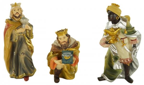 Detaillierte Krippenfiguren Heilige drei Könige 3-tlg., ca. 15 cm, K 077-02