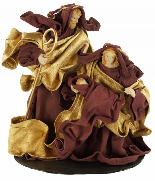 Krippenfigurenblock Heilige Familie Ankleidefiguren, ca. 26 cm