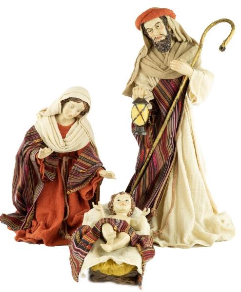 Wundervollee Ankleidefiguren Heilige Familie 3-tlg., ca. 40 cm, K 117-01