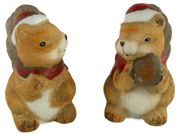 Bezaubernde Eichhörnchen 2er Set ca. 10 cm - Weihnachtsdekoration