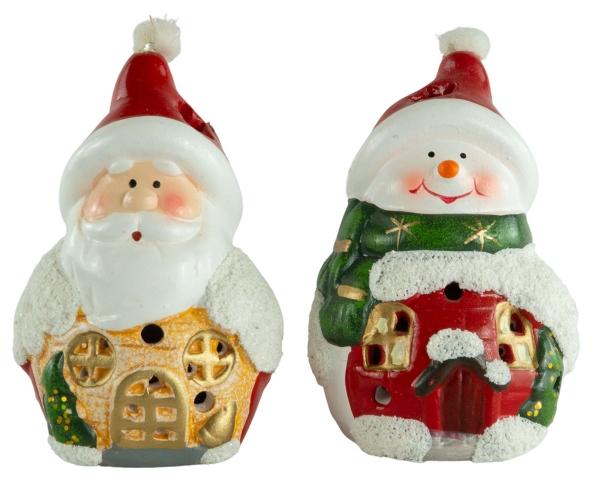 Niedliche LED Figuren ca. 10,5 cm - Weihnachtsdekoration