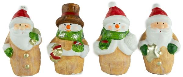 Bezaubernde Mäuse 4er Set ca. 8 cm - Weihnachtsdekoration
