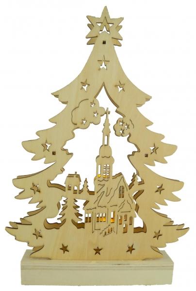 Beleuchteter Schwibbogen Weihnachtsbaum ca. 33 x 23 x 4 cm - Weihnachtsdekoration