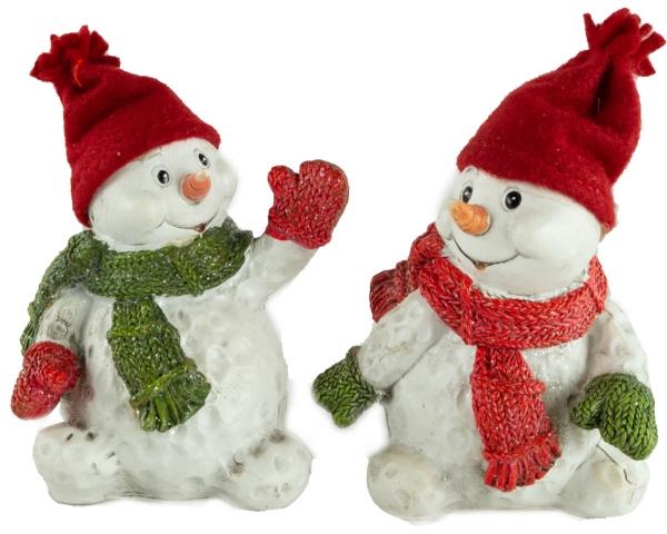 Bezaubernde Schneemänner 2er Set ca. 10 cm - Weihnachtsdekoration