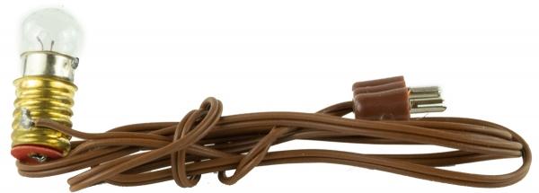 Schraubbirne weiß E10 mit Kabel - Krippenzubehör