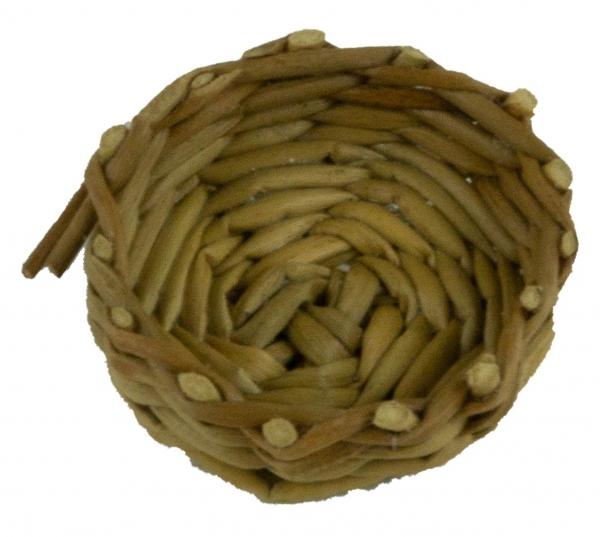 Handgefertigter Korb geflochten - Krippenzubehör, ca. 1 cm
